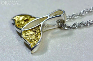 Gold Nugget Pendant Whales Tail - Sterling Silver Special Pwt26Nssx Hand Made Jewelry Specials
