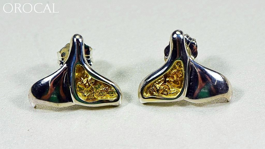 Gold Nugget Whales Tail Earrings - Sterling Silver Special Edlwt12Nss Hand Made Jewelry Specials
