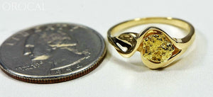 Gold Nugget Womens Ring Orocal Rl509 Genuine Hand Crafted Jewelry - 14K Casting