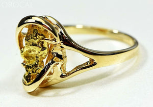 Gold Nugget Womens Ring Orocal Rl784Sn Genuine Hand Crafted Jewelry - 14K Casting