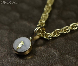 Gold Quartz Pendant Orocal Pbz5Mmqx Genuine Hand Crafted Jewelry - 14K Yellow Casting