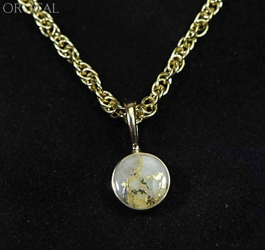 Gold Quartz Pendant Orocal Pbz6Mmqx Genuine Hand Crafted Jewelry - 14K Yellow Casting