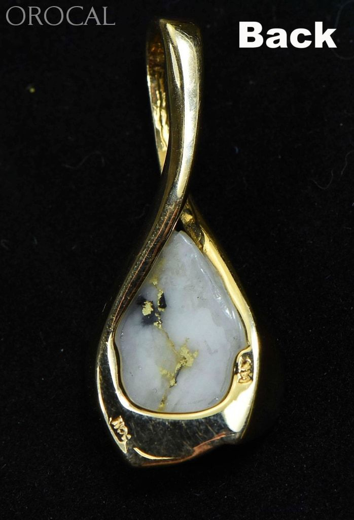 Gold Quartz Pendant Orocal Pn628Qx Genuine Hand Crafted Jewelry - 14K Yellow Casting