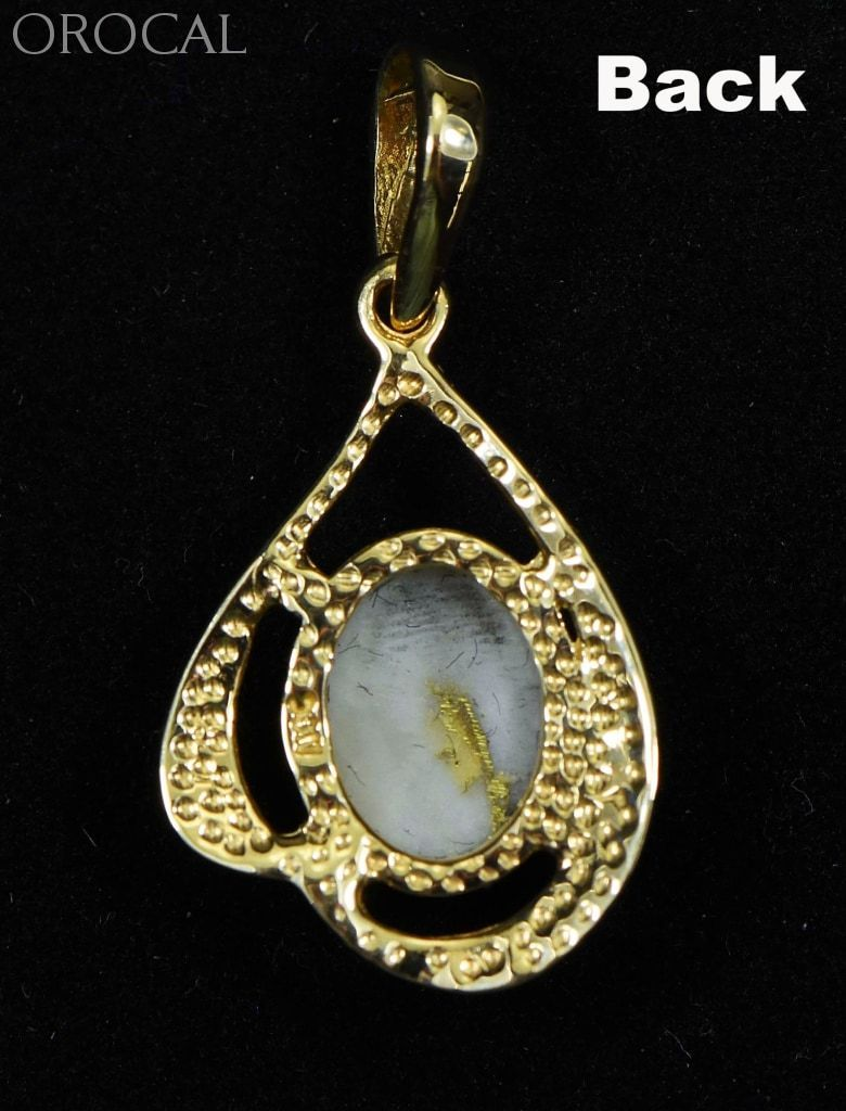Gold Quartz Pendant Orocal Pn870Qx Genuine Hand Crafted Jewelry - 14K Yellow Casting