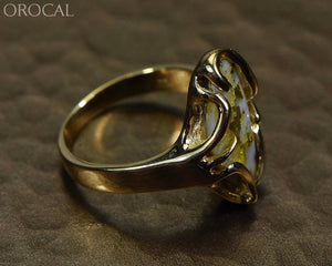 Gold Quartz Ring Ladies Orocal Rl1031 Genuine Hand Crafted Jewelry - 14K Yellow Casting