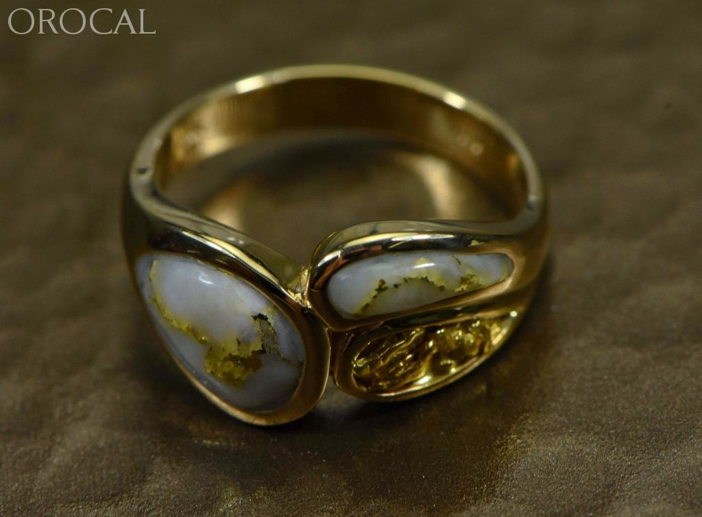 Gold Quartz Ring Ladies Orocal Rll1168Nq Genuine Hand Crafted Jewelry - 14K Yellow Casting