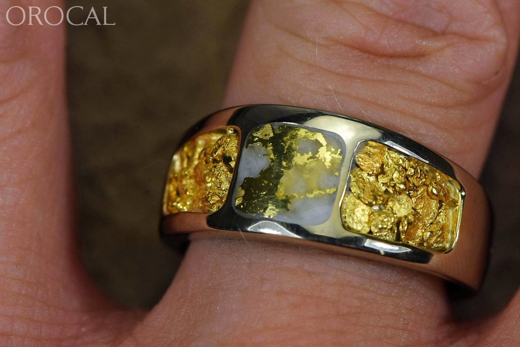 Gold Quartz Ring Ladies Orocal Rm6510Lq Genuine Hand Crafted Jewelry - 14K Yellow Casting
