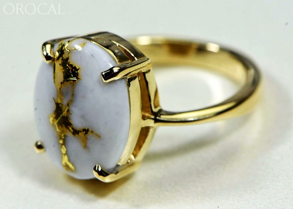 Gold Quartz Ring Orocal Rl1007Q Genuine Hand Crafted Jewelry - 14K Casting