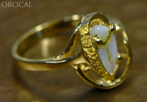 Gold Quartz Ring Orocal Rl1043Nq Genuine Hand Crafted Jewelry - 14K Casting