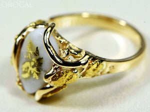 Gold Quartz Ring Orocal Rl232Q Genuine Hand Crafted Jewelry - 14K Casting