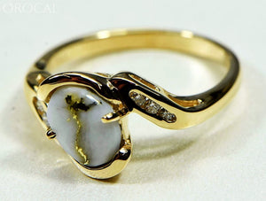 Gold Quartz Ring Orocal Rl586D10Q Genuine Hand Crafted Jewelry - 14K Casting