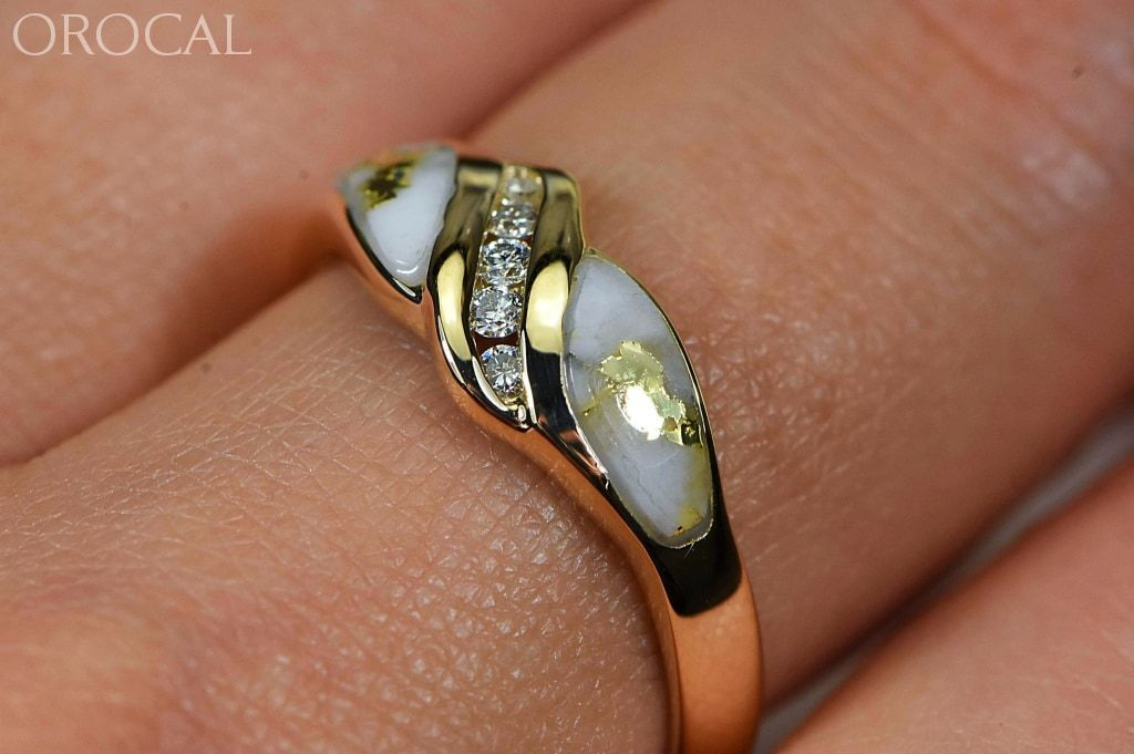 Gold Quartz Ring Orocal Rl612D10Q Genuine Hand Crafted Jewelry - 14K Casting