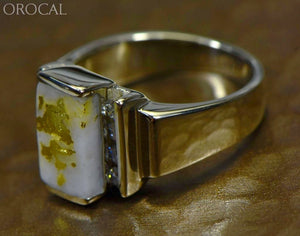 Gold Quartz Ring Orocal Rl639D32Qw Genuine Hand Crafted Jewelry - 14K Casting