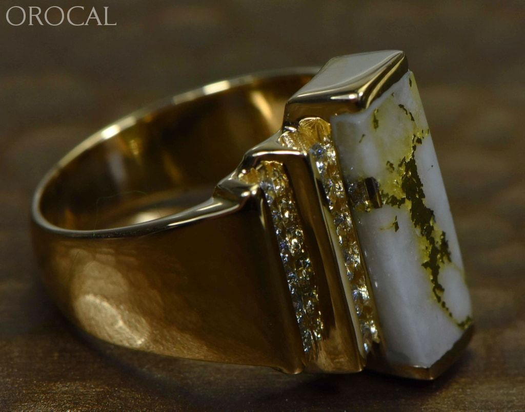 Gold Quartz Ring Orocal Rl639Ld80Q Genuine Hand Crafted Jewelry - 14K Casting