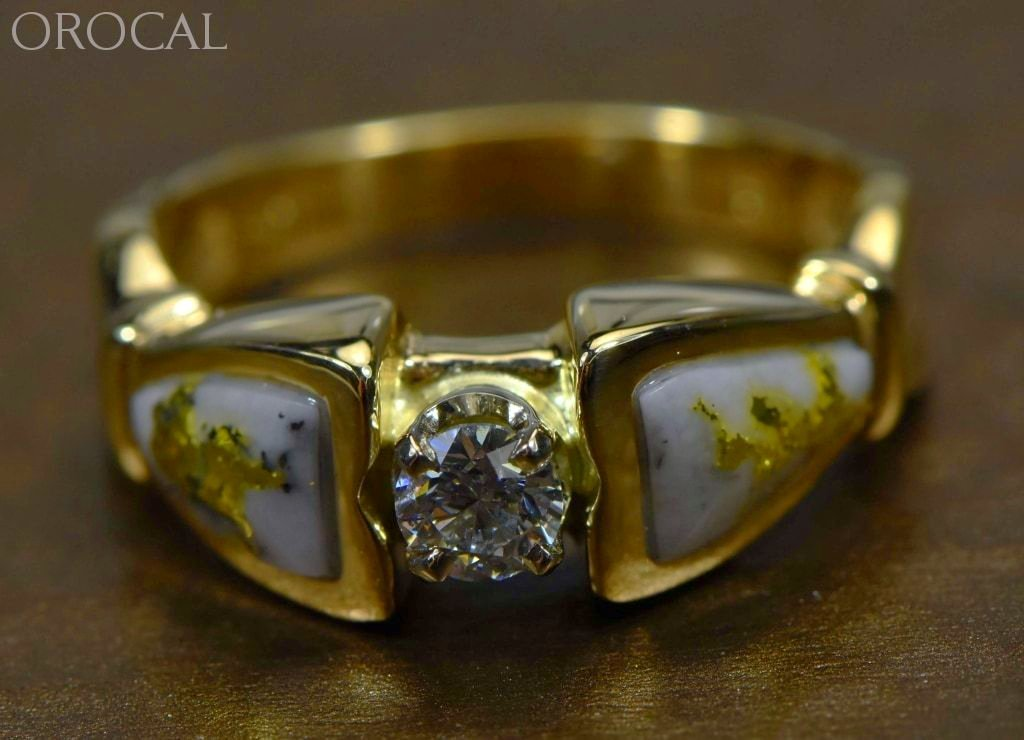 Gold Quartz Ring Orocal Rl988Dqe Genuine Hand Crafted Jewelry - 14K Casting