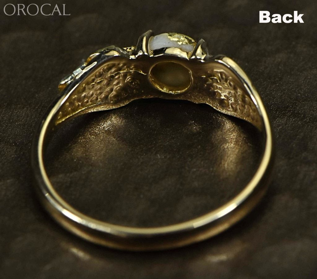 Gold Quartz Ring Orocal Rldl14Q6Mm Genuine Hand Crafted Jewelry - 14K Casting