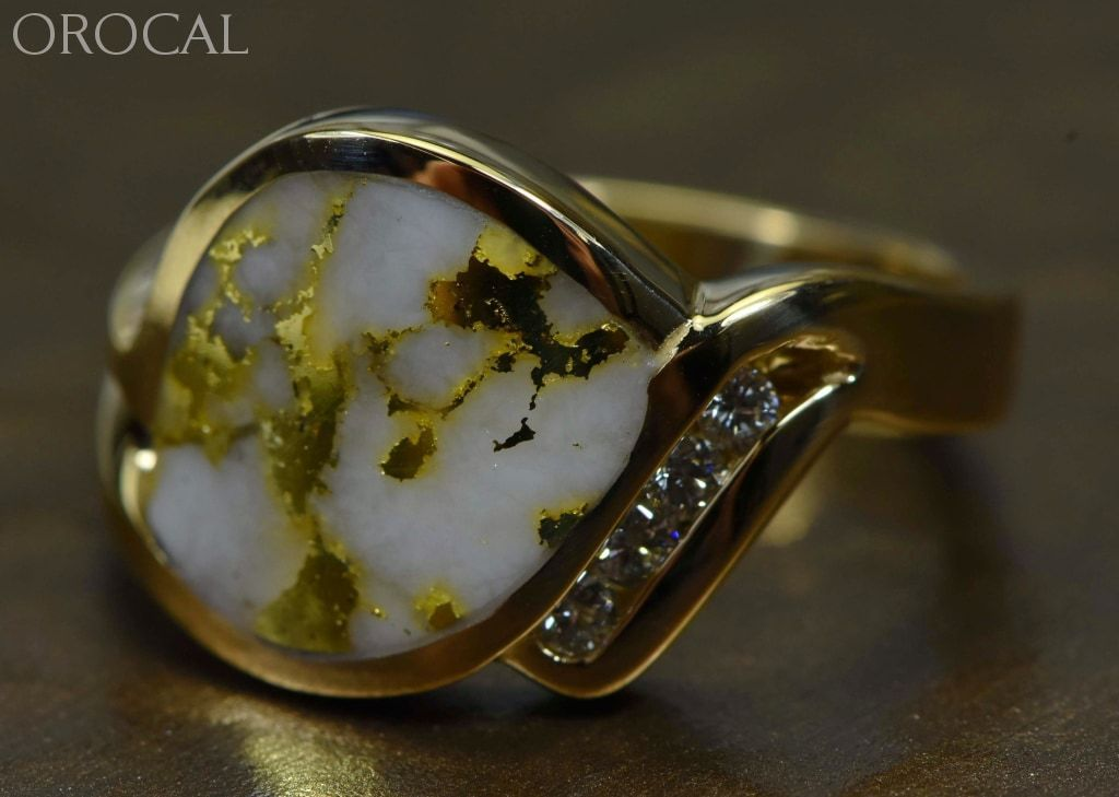 Gold Quartz Ring Orocal Rldl90D12Q Genuine Hand Crafted Jewelry - 14K Casting