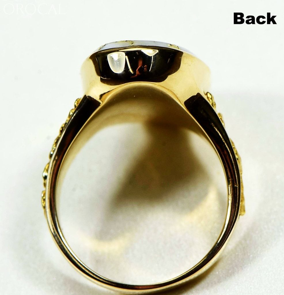 Gold Quartz Ring Orocal Rlea2Q Genuine Hand Crafted Jewelry - 14K Casting