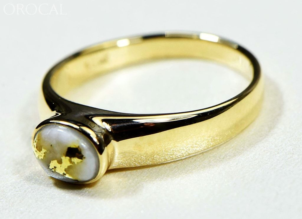 Gold Quartz Ring Orocal Rll1427Q Genuine Hand Crafted Jewelry - 14K Casting