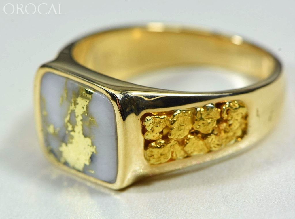 Gold Quartz Ring Orocal Rm1003Q Genuine Hand Crafted Jewelry - 14K Casting