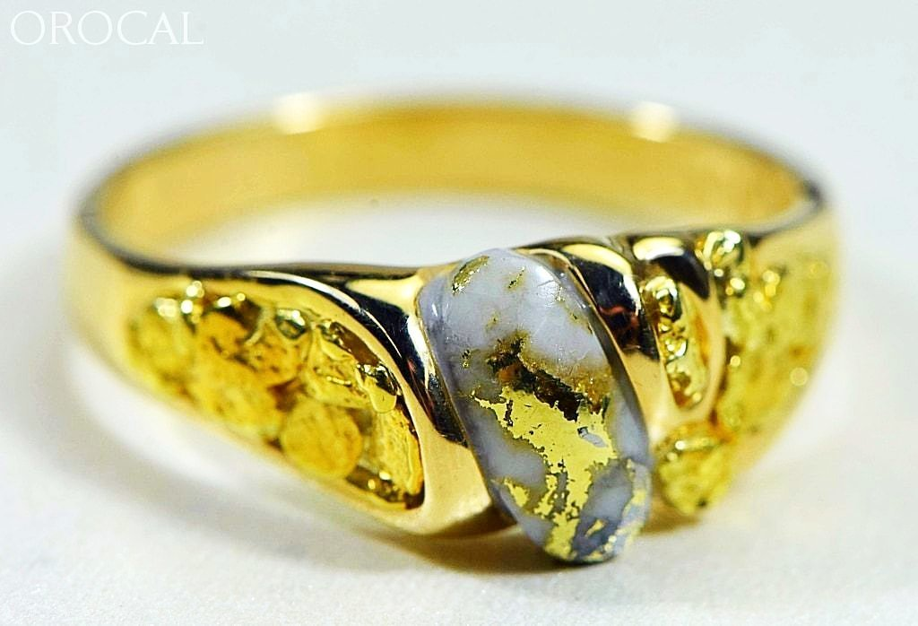 Gold Quartz Ring Orocal Rm487Q Genuine Hand Crafted Jewelry - 14K Casting