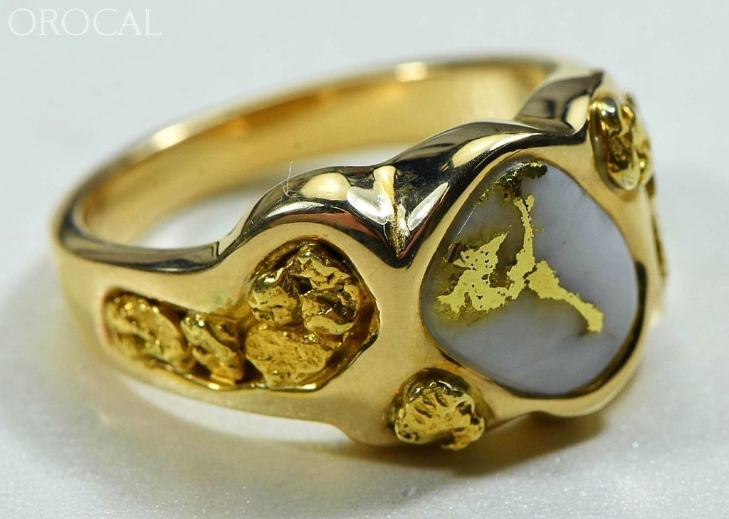 Gold Quartz Ring Orocal Rm654Q Genuine Hand Crafted Jewelry - 14K Casting