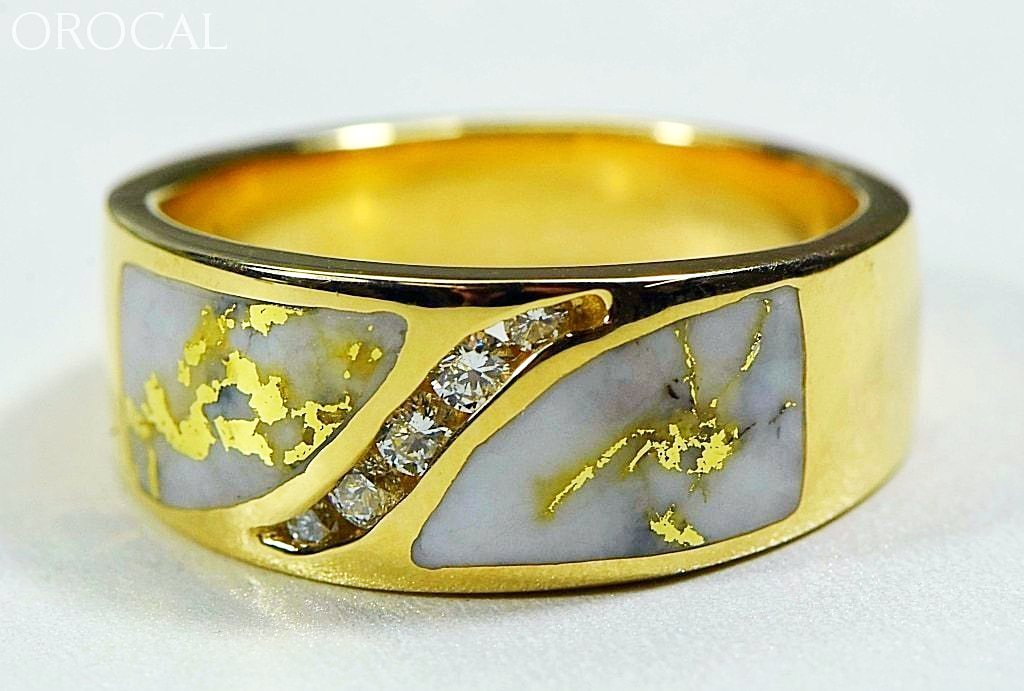 Gold Quartz Ring Orocal Rm673D27Q Genuine Hand Crafted Jewelry - 14K Casting