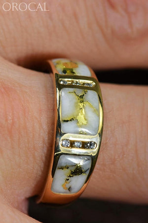 Gold Quartz Ring Orocal Rm732D12Q Genuine Hand Crafted Jewelry - 14K Casting