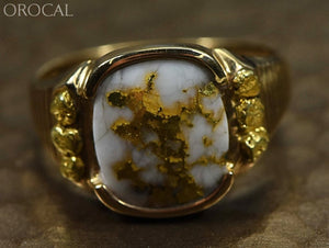 Gold Quartz Ring Orocal Rm794Nq Genuine Hand Crafted Jewelry - 14K Casting