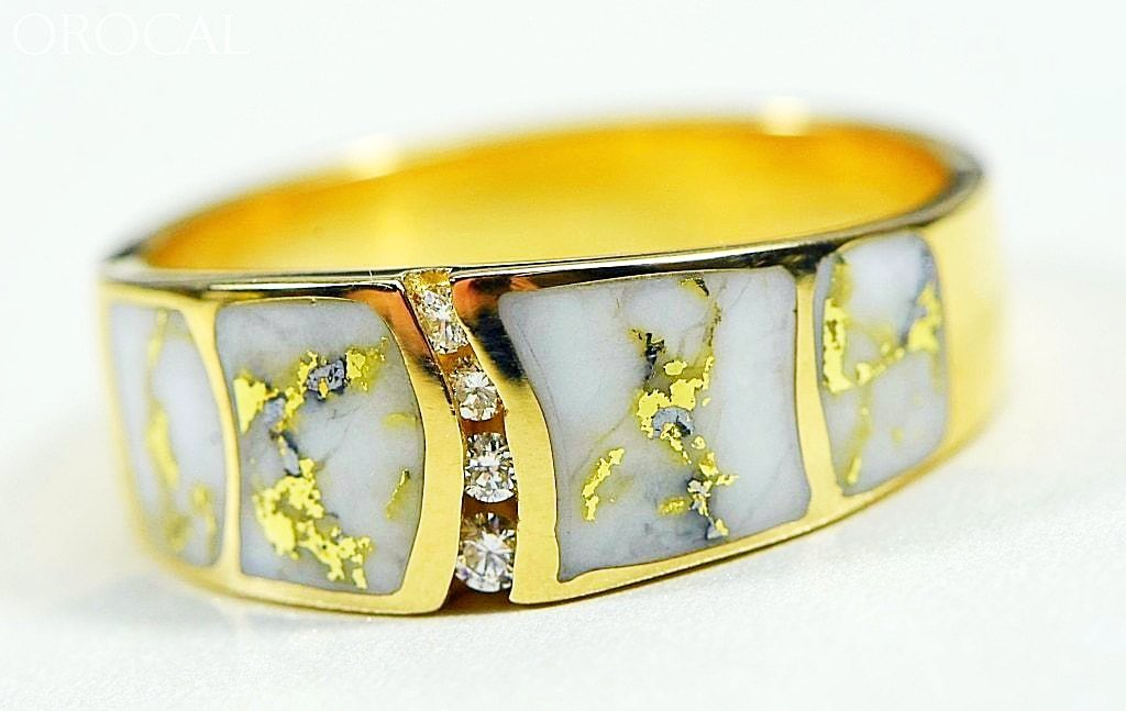 Gold Quartz Ring Orocal Rmdl58Sd9Q Genuine Hand Crafted Jewelry - 14K Casting