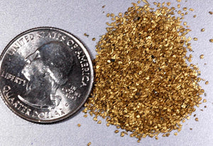 Alaskan Yukon Gold Rush Nuggets #50 Mesh 5 Gram Of Super -Super Small Fines Bc Flake