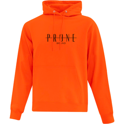 Community Hoodie orange brodé noir