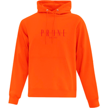 Community Hoodie orange brodé rouge