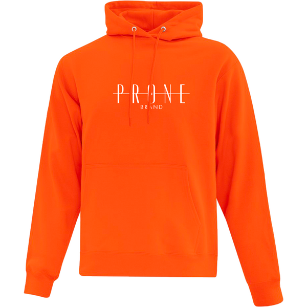 Community Hoodie orange brodé blanc