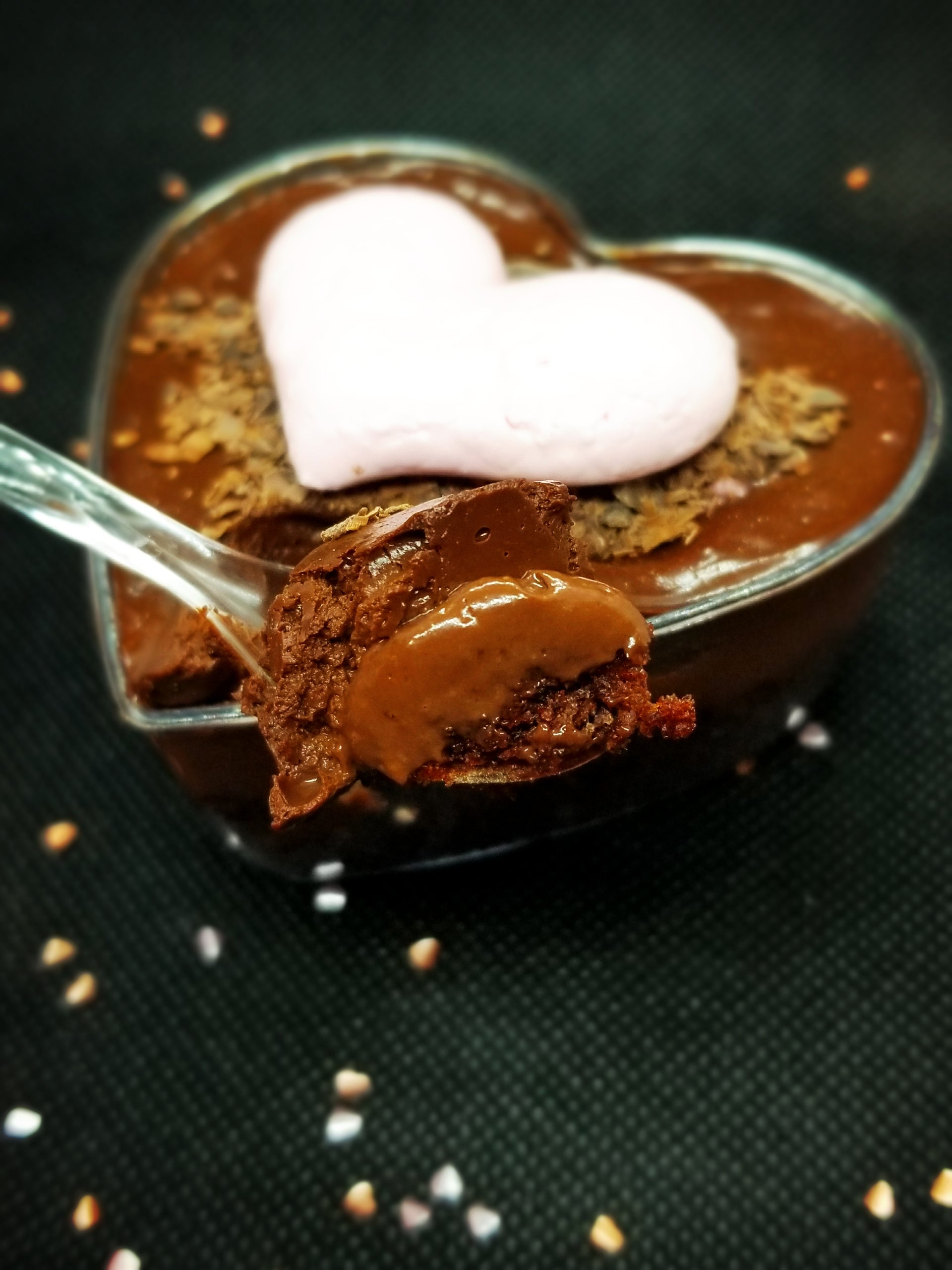 Heart-Shaped Chocolate Mousse Cup