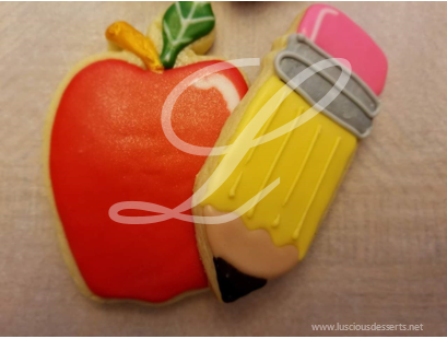 Teacher Themed Sugar Cookies