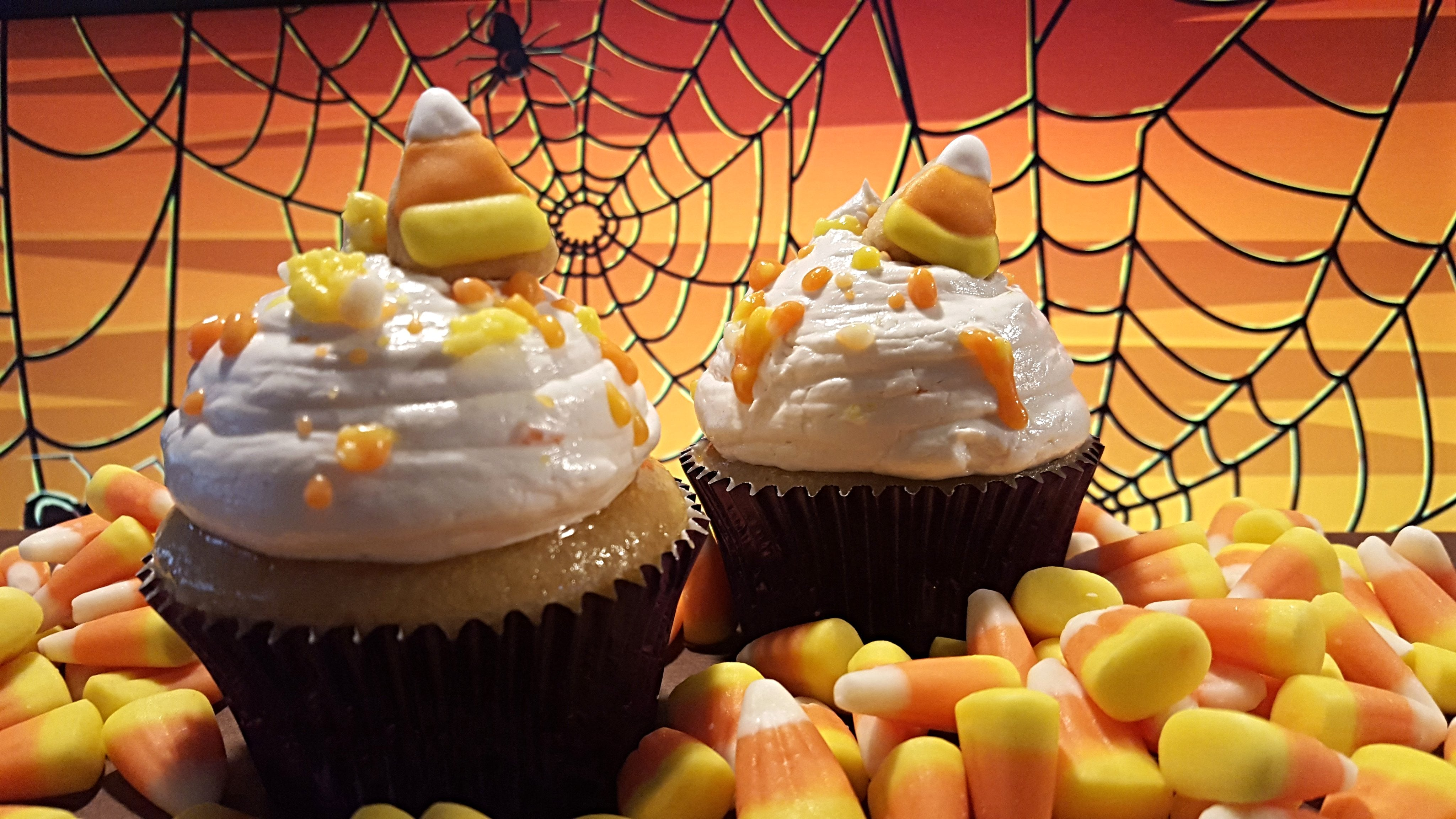 Luscious Desserts Candy Corn Cupcakes