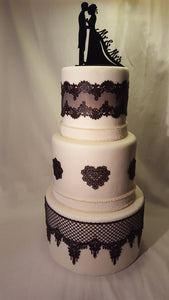 Luscious Desserts Lace Wedding Cake