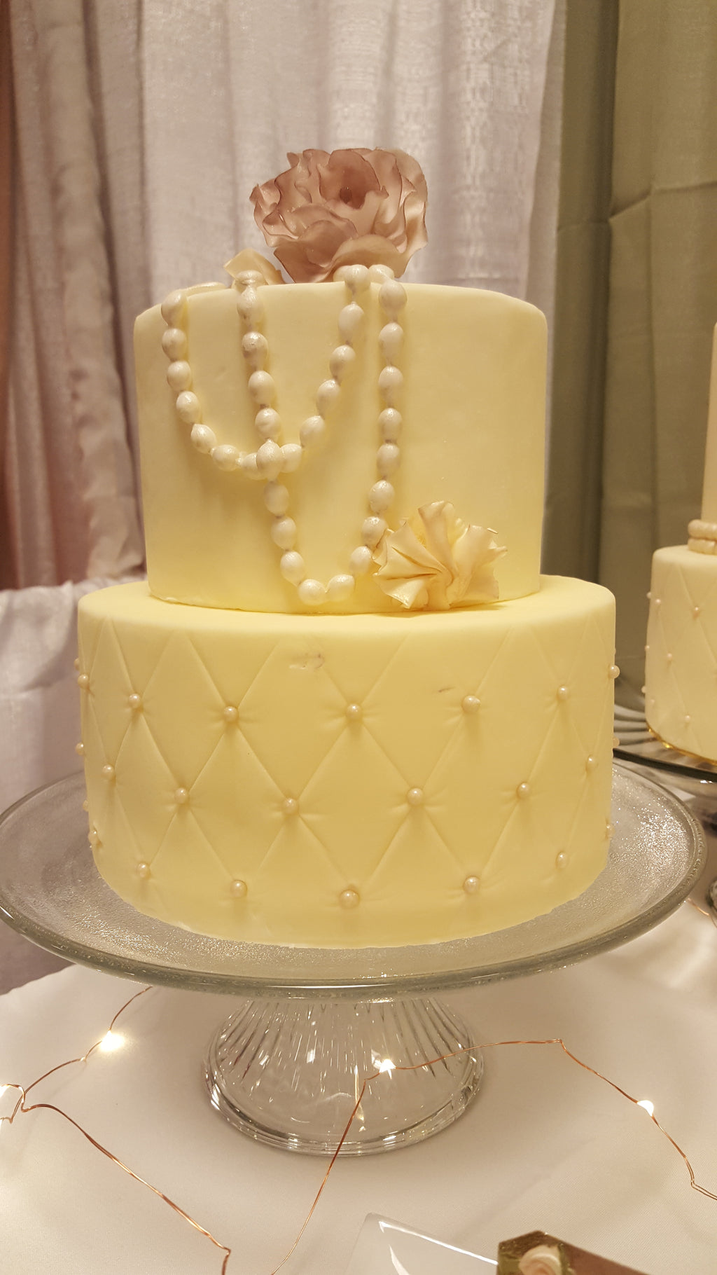 Luscious Desserts Pearl Wedding Cake