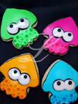 Splatoon Sugar Cookies