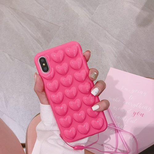 The Fusion Pink 3D Heart Case