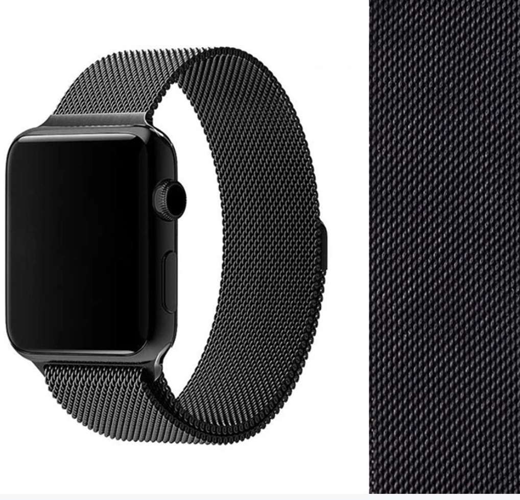 Black Mesh Band for Apple Watch