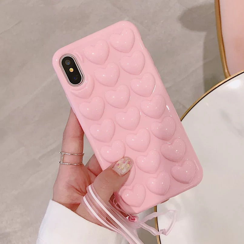 The Soft Pink 3D Heart Case