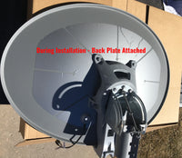 HotShot dish heater being installed with HughesNet Antenna