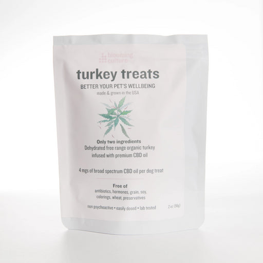 CBD turkey treats for dogs | Blooming Culture