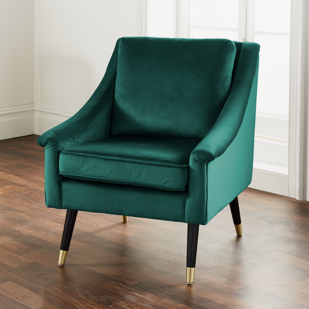 Green Velvet Armchair