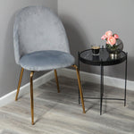 Velvet Dining Chair - Gold Legs