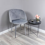 Velvet Covered Dining Chair