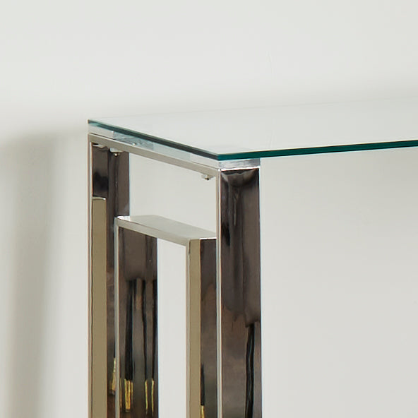Milano Silver Plated Console Table