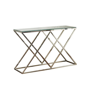 Pyramid Silver Console Table